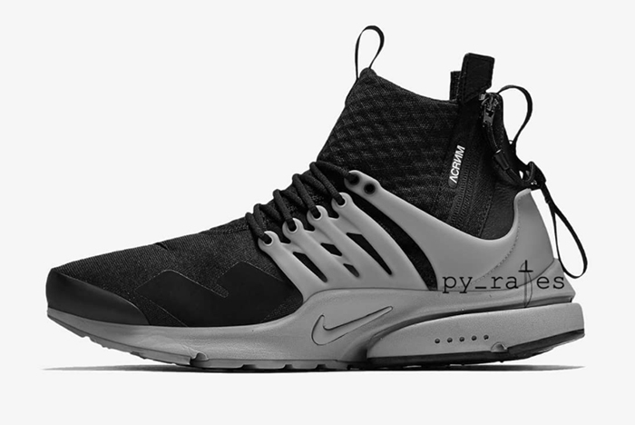 Preview: Acronym x Nike Air Presto Mid Cool Grey Le Site