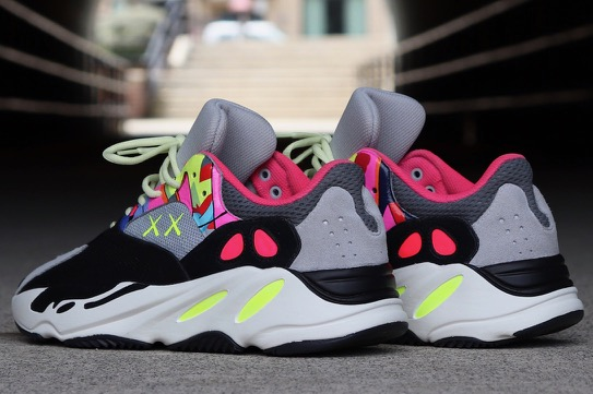 finest selection 2a4af 2e813 Kaws x adidas Yeezy Boost 700 Wave Runner Custom - Le Site ...