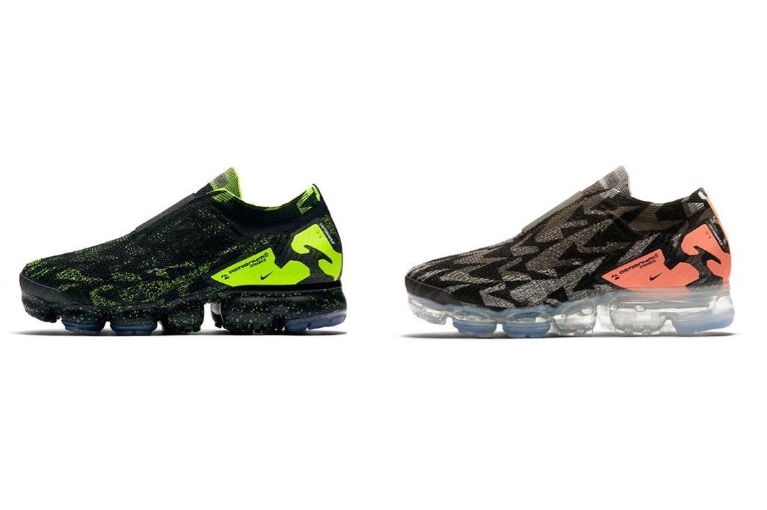 189ed90bd04a9f Les 2 autres Acronym x Nike Air VaporMax Moc dévoilées. Après avoir  présenté le colorway Light Bone qui sortira pour ...