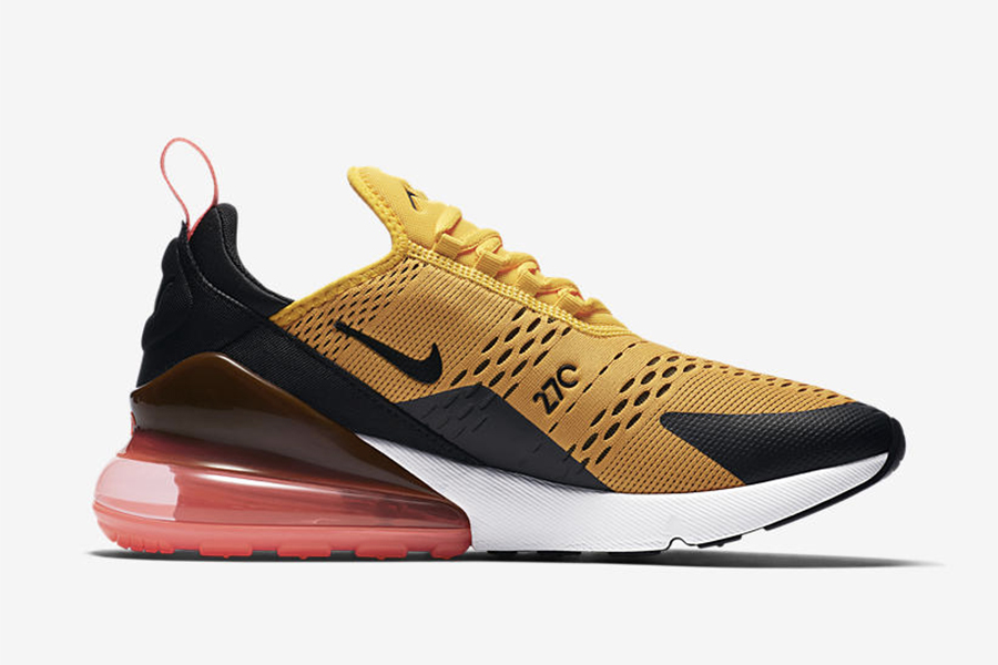 air max 270 orange noir