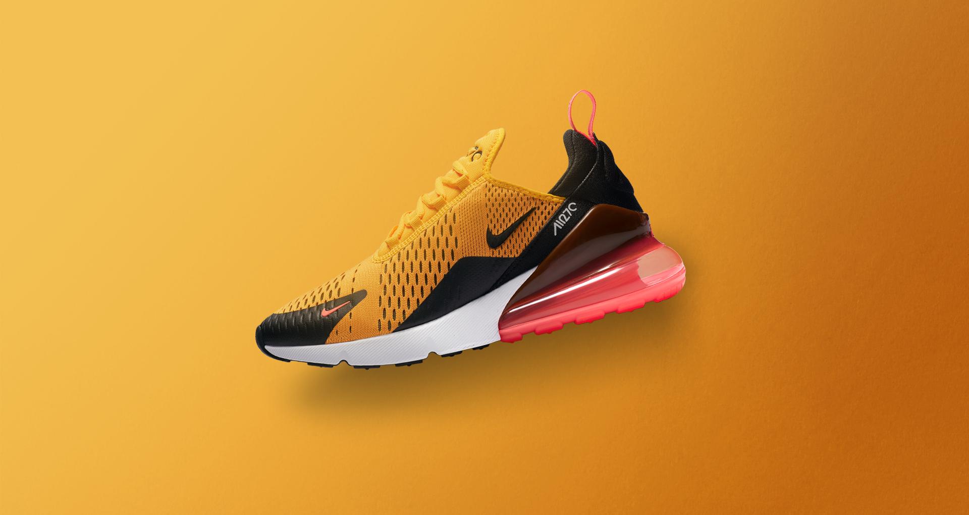 2018 shoes wholesale new concept Nike Air Max 270 Black University Gold