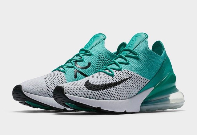 separation shoes 6b57b cf677 Nike Air Max 270 Flyknit Clear Emerald