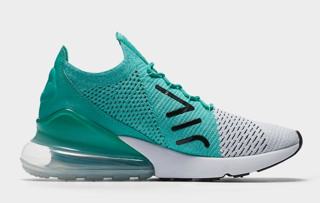 air max 270 blanche turquoise