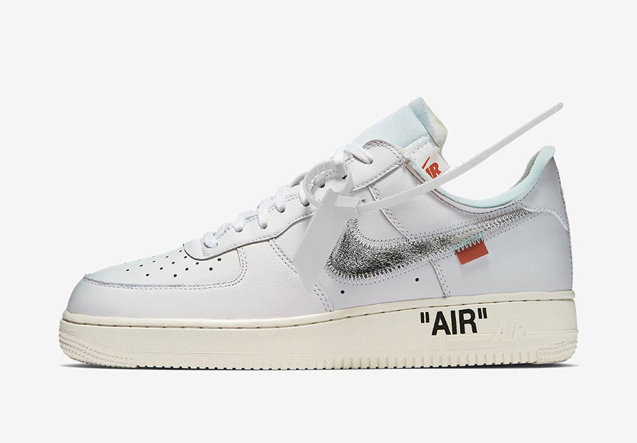 5a9bd6f673 La Off-White x Nike Air Force 1 White/Metallic Silver bientôt ...