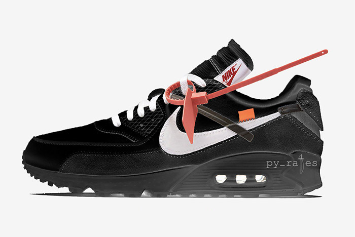 2018 Off White x Nike Air Max 90 Black AA7293 001