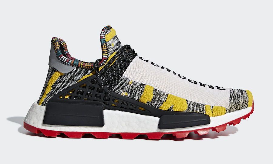 Pharrell x adidas NMD HU Core Black 'Solar' Pack
