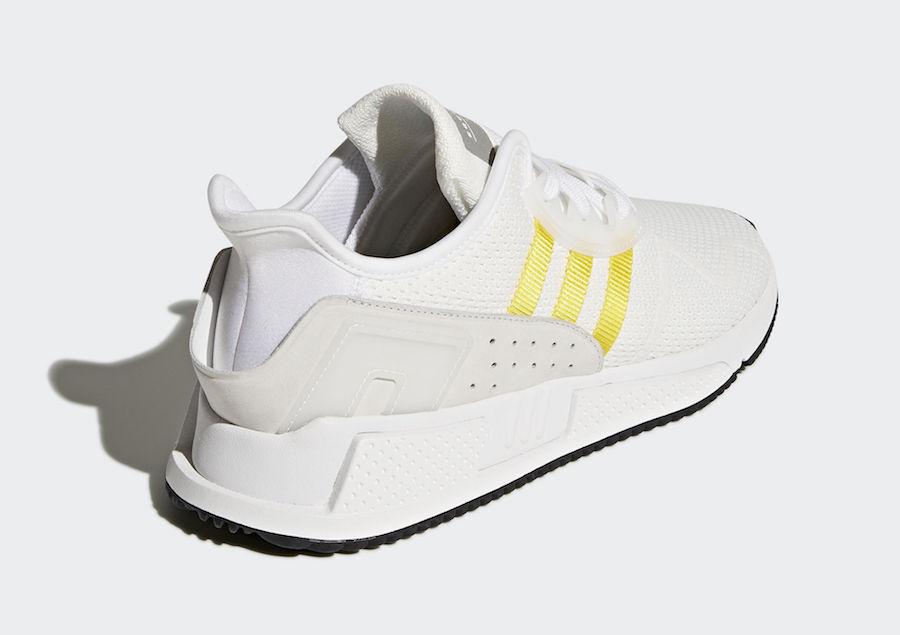 check out 21557 bba42 adidas-eqt-cushion-adv-white-yellow-stripes-CQ2375-