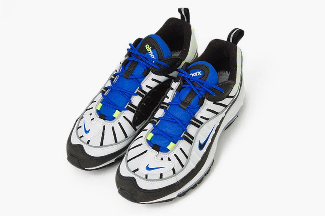 air max 98 bleu noir blanche