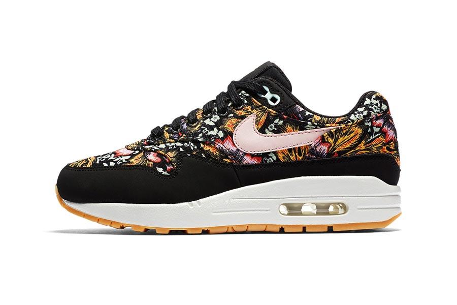 Black Floral Air 1 Nike Print Max E9Y2WHID