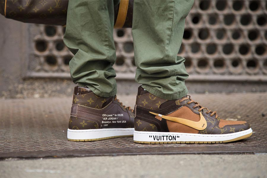0b81635edb8c Air Jordan 1 Off-White x Louis Vuitton Custom - Le Site de la Sneaker