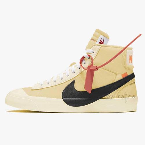 Off-White x Nike Blazer Beige