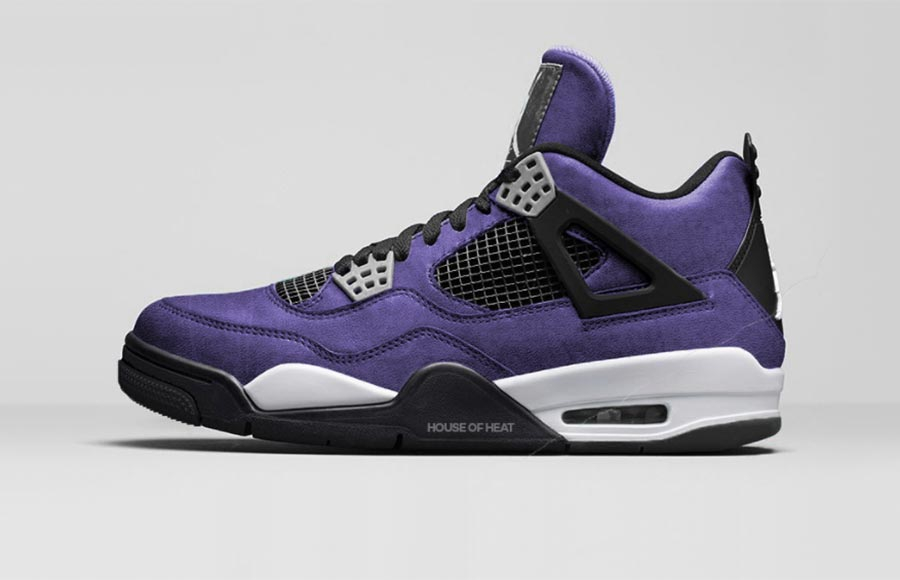 huge selection of 071f3 8f2ed Travis Scott aperçu avec une Air Jordan 4 Purple - Le Site ...