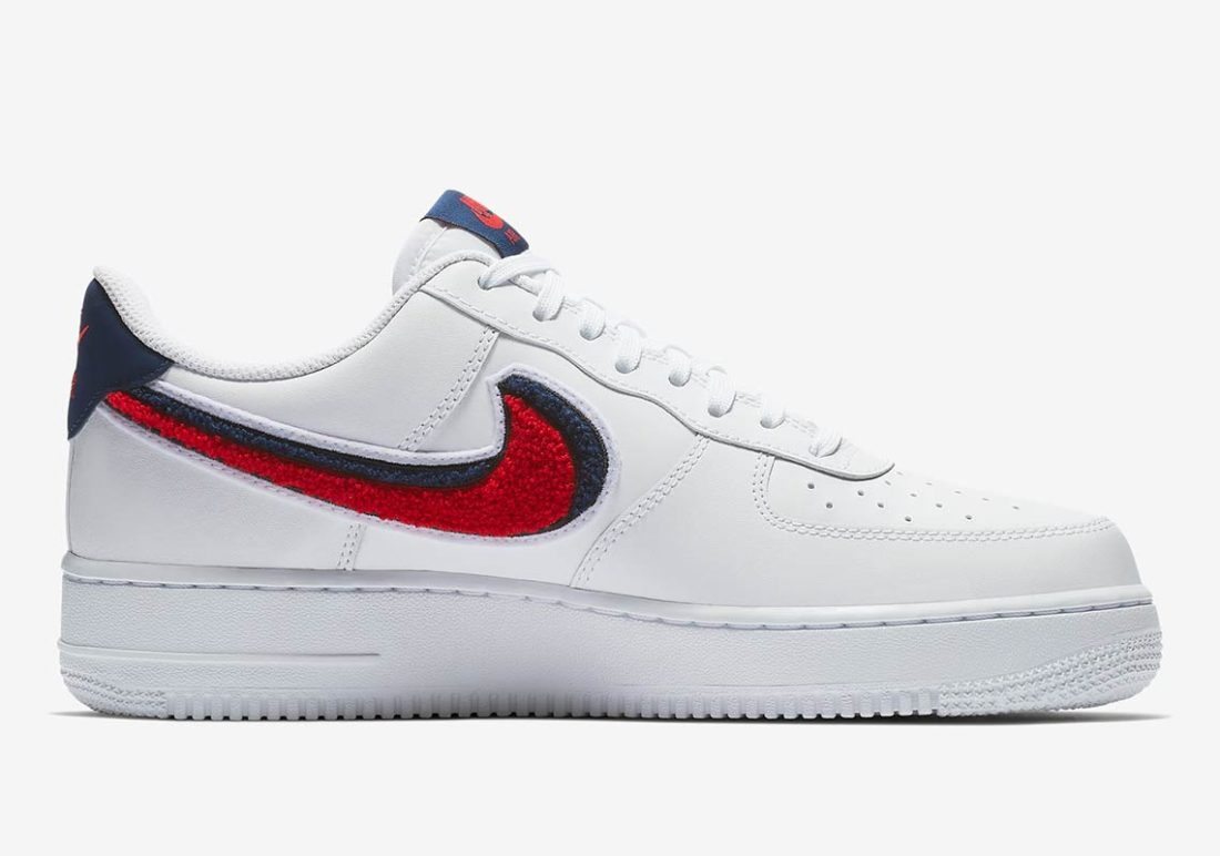 nike air force one rouge et bleu