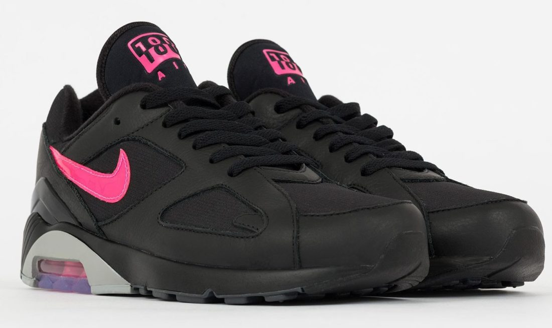 lowest price babbf c40bb nike-air-max-180-black-pink-grey-aq9974-