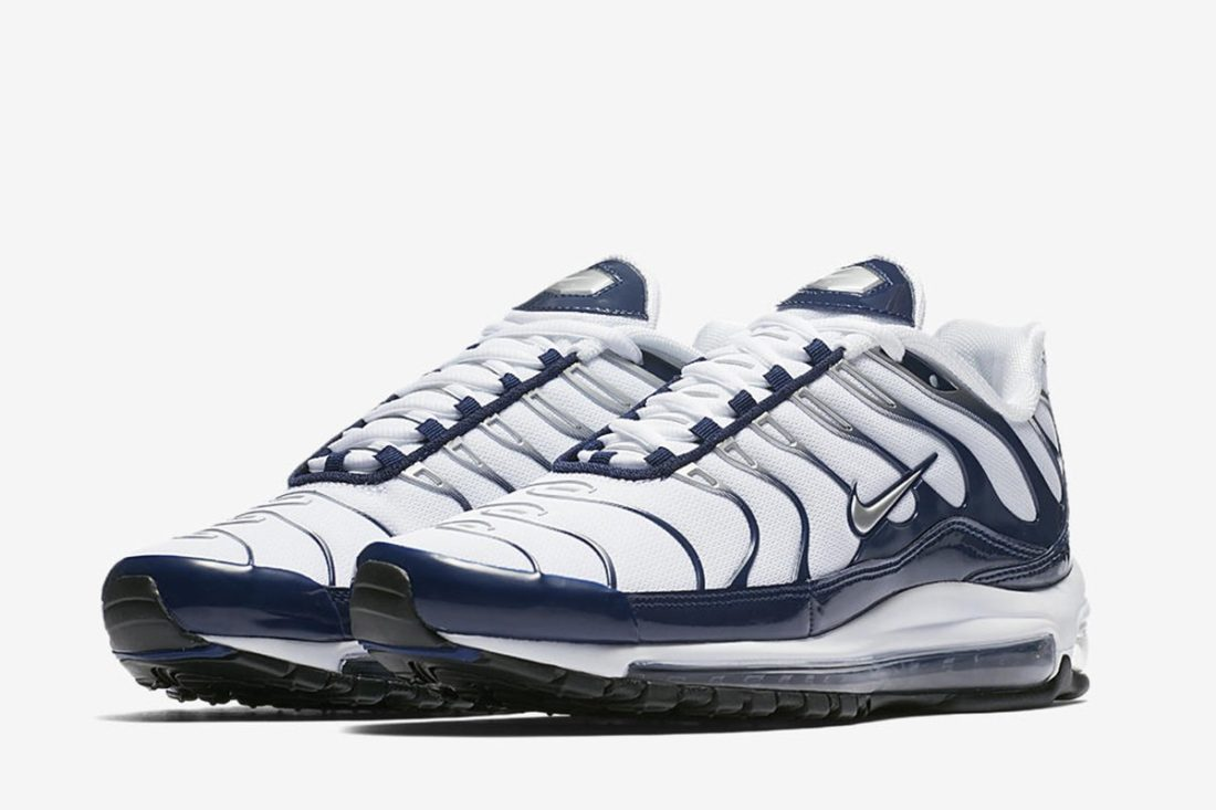 huge inventory f5673 2d5ff Nike Air Max 97 Plus White Navy - Le Site de la Sneaker