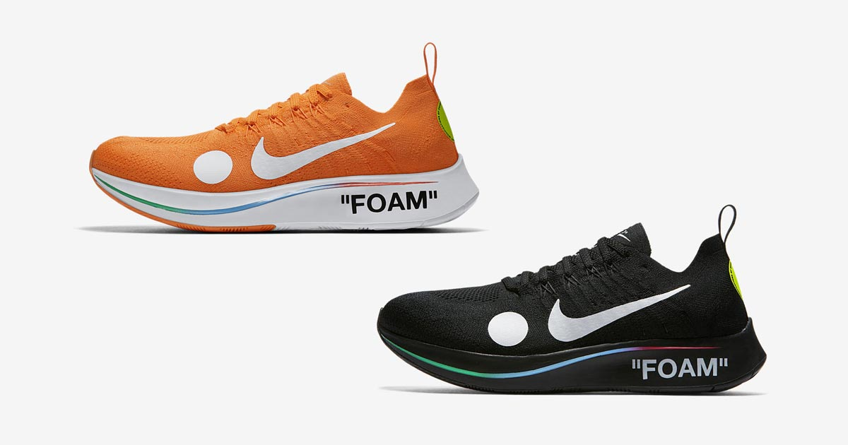 newest 2f24d 4b47c Off-White x Nike Zoom Fly Mercurial Flyknit Pack