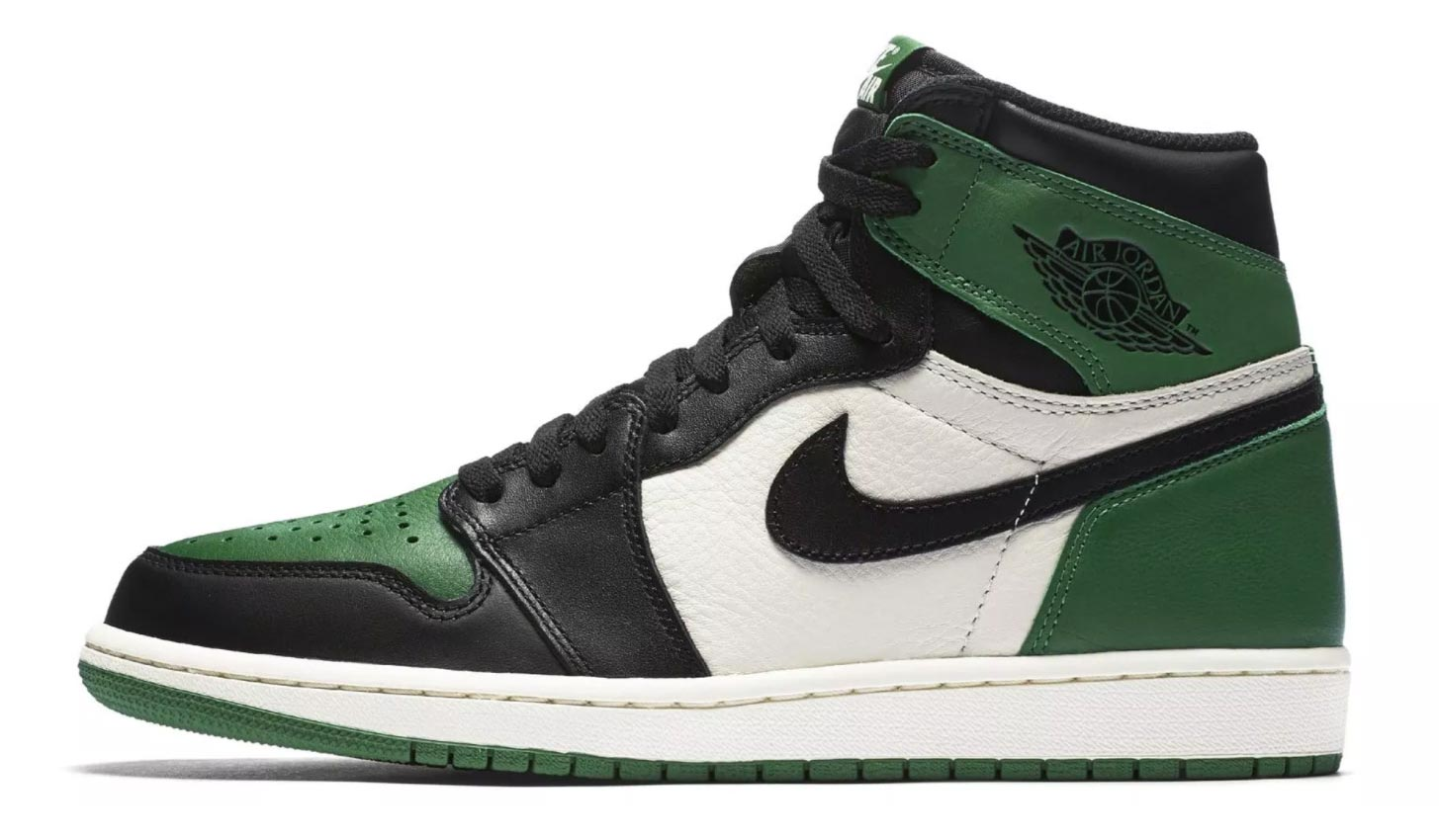official photos huge inventory in stock Air Jordan 1 Pine Green