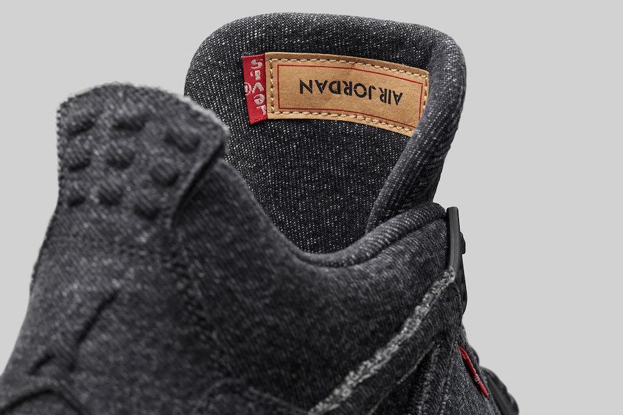 76328a85e23b2 Levi s x Air Jordan 4 Black - Le Site de la Sneaker