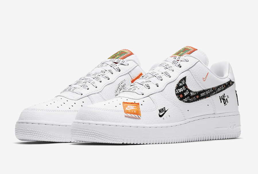 "9a76b7d6 Nike Air Force 1 '07 PRM ""Just Do It"" White"
