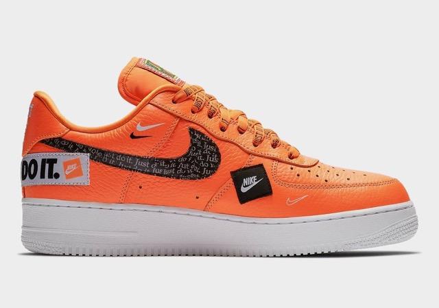 air force 1 orange fluo femme