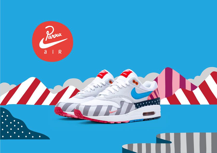 Parra x Nike Air Max 1 White Pure Platinum