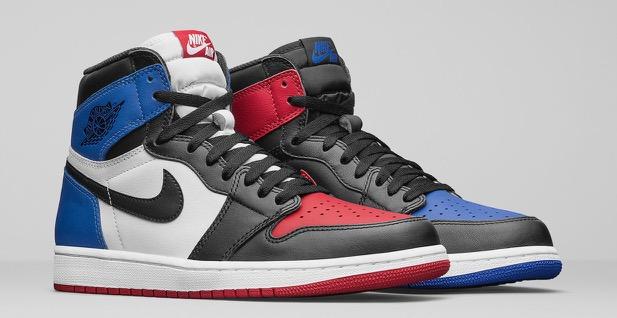 Air Jordan 1 Retro High OG Black Blue Red - Le Site de la Sneaker