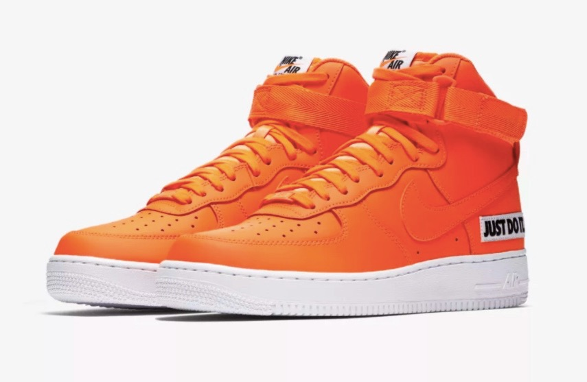 Nike Air Force 1 High Just Do It Orange