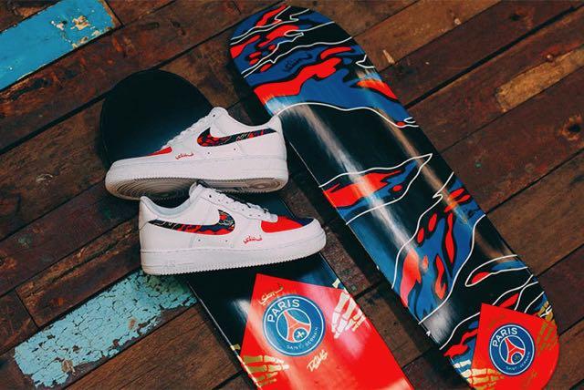 Une Nike Air Force 1 PSG Custom par SBTG Le Site de la Sneaker