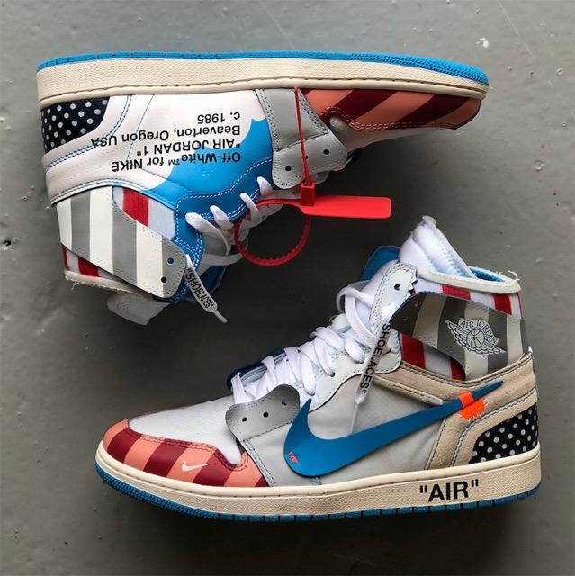 Air Off Jordan Site White Custom Le Sneaker Parra La 1 X De SGUpMqzVL