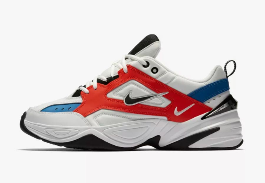 Nike M2K Tekno White Orange Blue