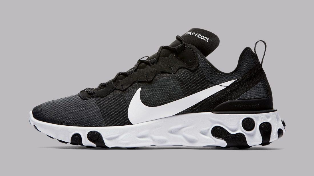 separation shoes c2a8a 84d7e nike-react-element-55-black-white-bq6166-003-