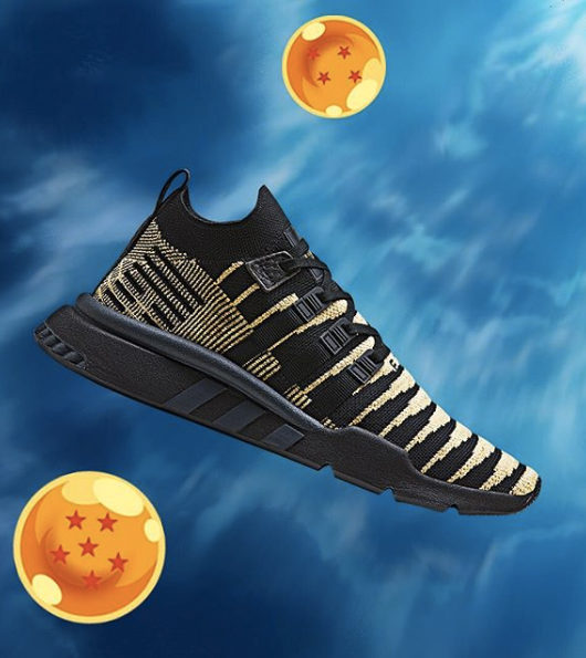 check out df2b4 e9e24 DBZ x adidas EQT Support ADV Shenron Black Gold
