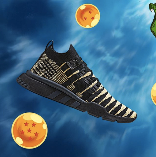 buying cheap great quality the best attitude DBZ x adidas EQT Support ADV Shenron Black Gold