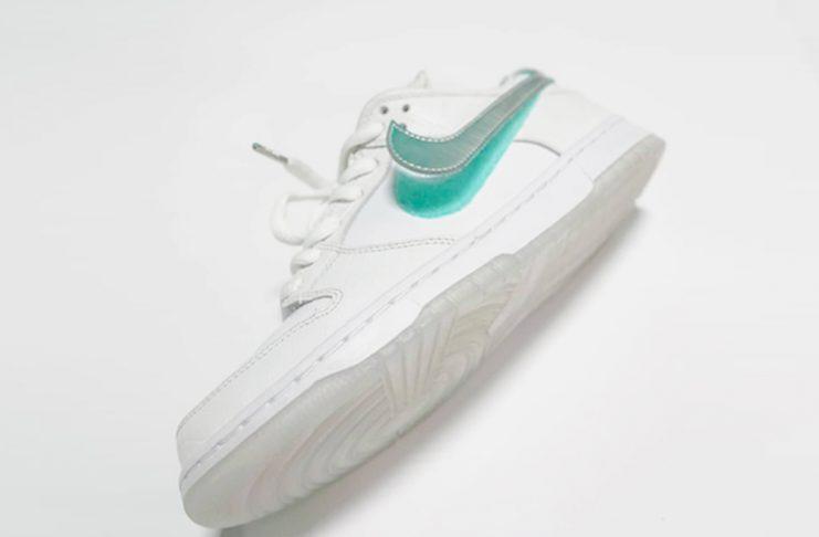 best sneakers 93402 8146e Teaser Diamond x Nike SB Dunk Low Tiffany White