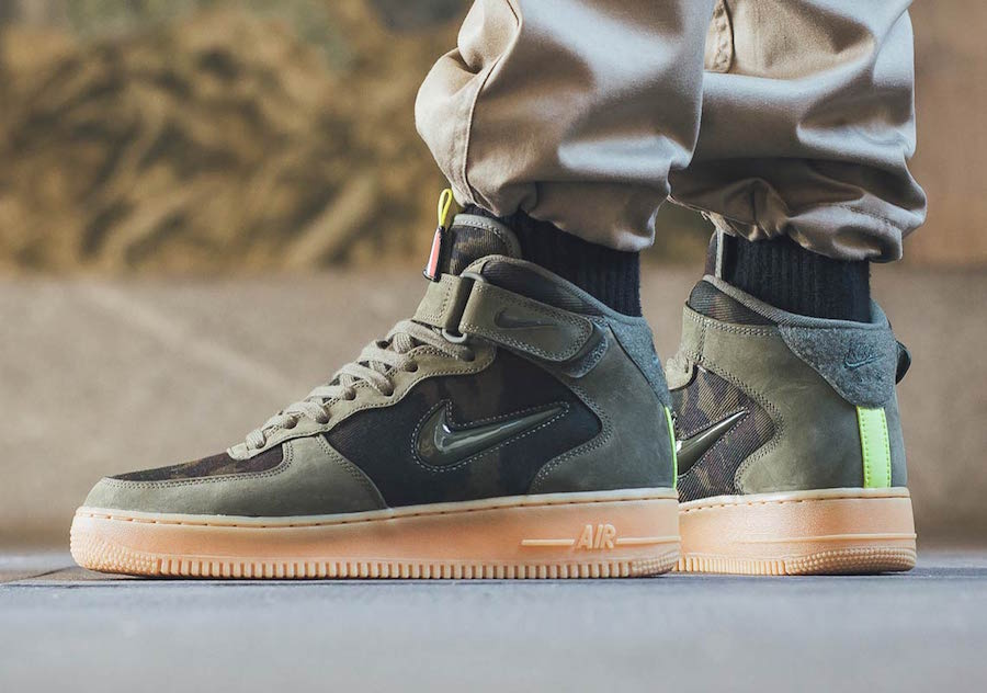 Nike Air Force 1 Mid Jewel Country Camo France Le Site de