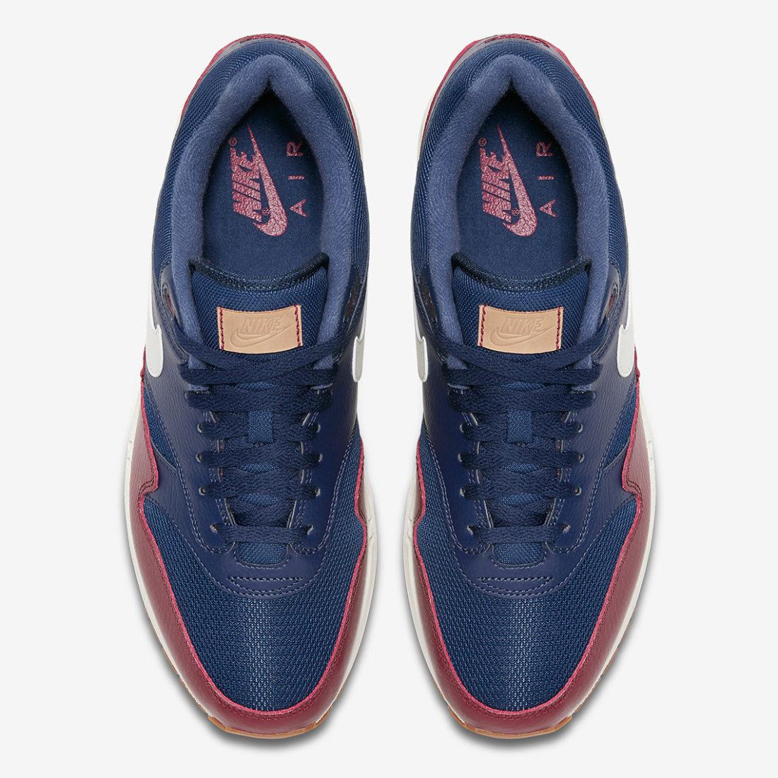 sale retailer 2d7e5 35ce8 nike-air-max-1-AH8145-400-navy-red-