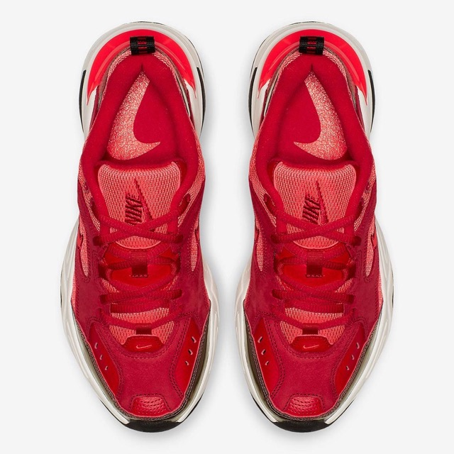 official photos 5a1c3 f35d8 nike-m2k-tekno-red-suede-002