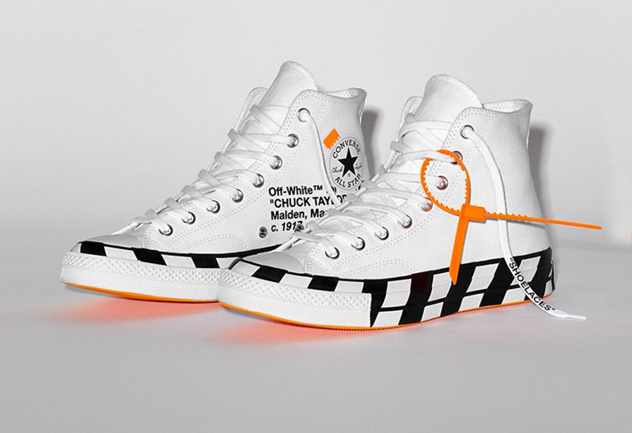 Off White x Converse Chuck 70 Stripe White