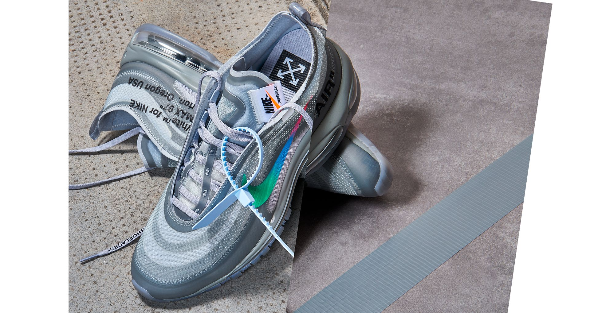Off White x Nike Air Max 97 Wolf Grey Menta
