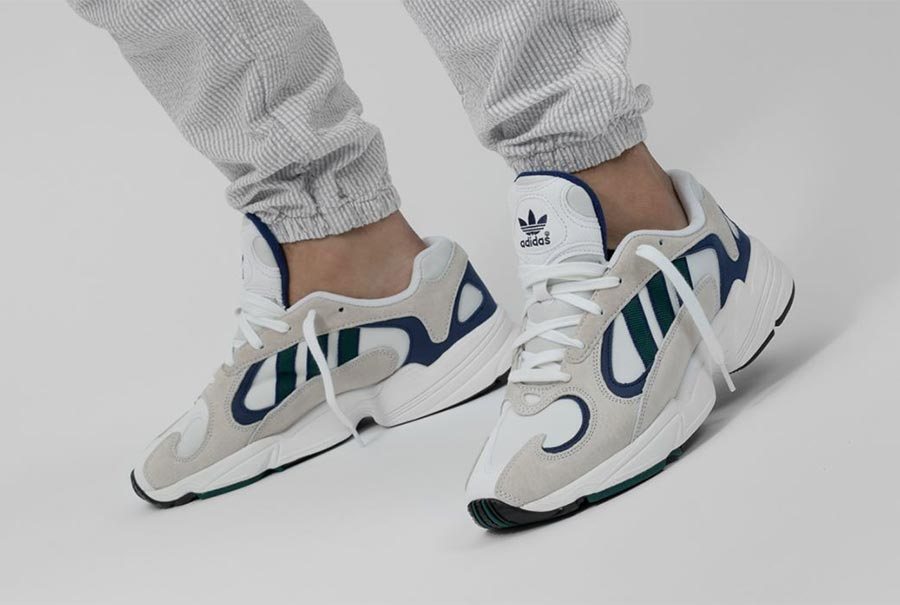 adidas Yung-1 White Blue Green