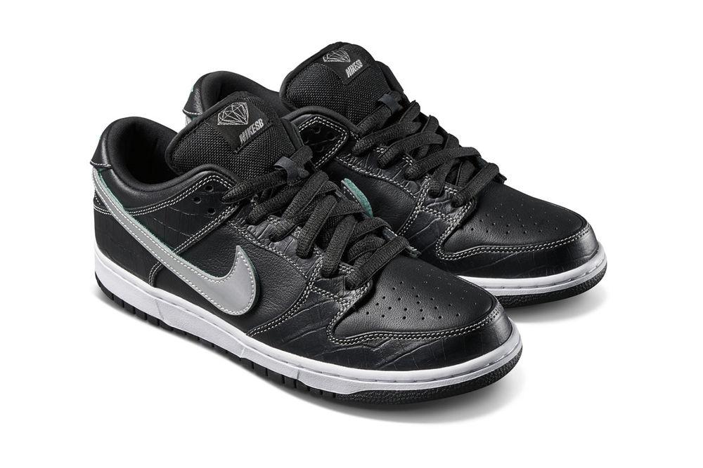 official photos 374ae 67db5 Diamond Supply Co. x Nike SB Dunk Low Black