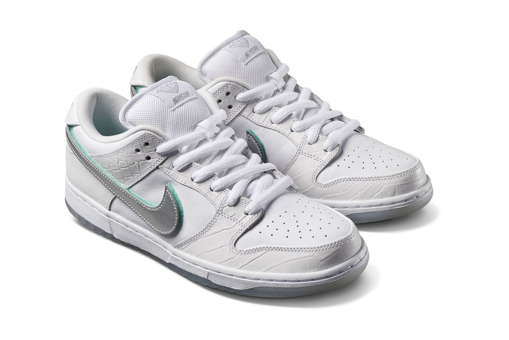 best wholesaler multiple colors save off Diamond Supply Co. x Nike SB Dunk Low White