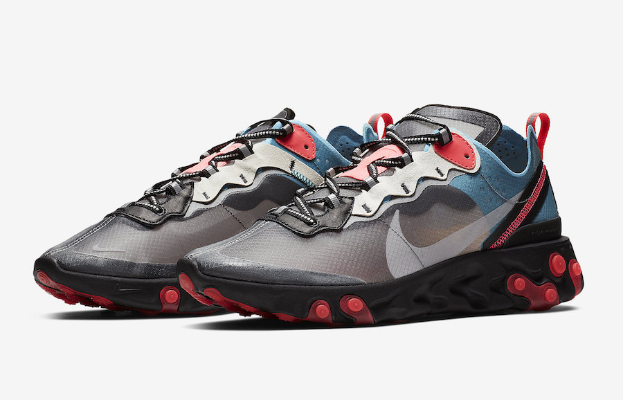 half off 6139d 8d69f nike-react-element-87-blue-chill-solar-red-