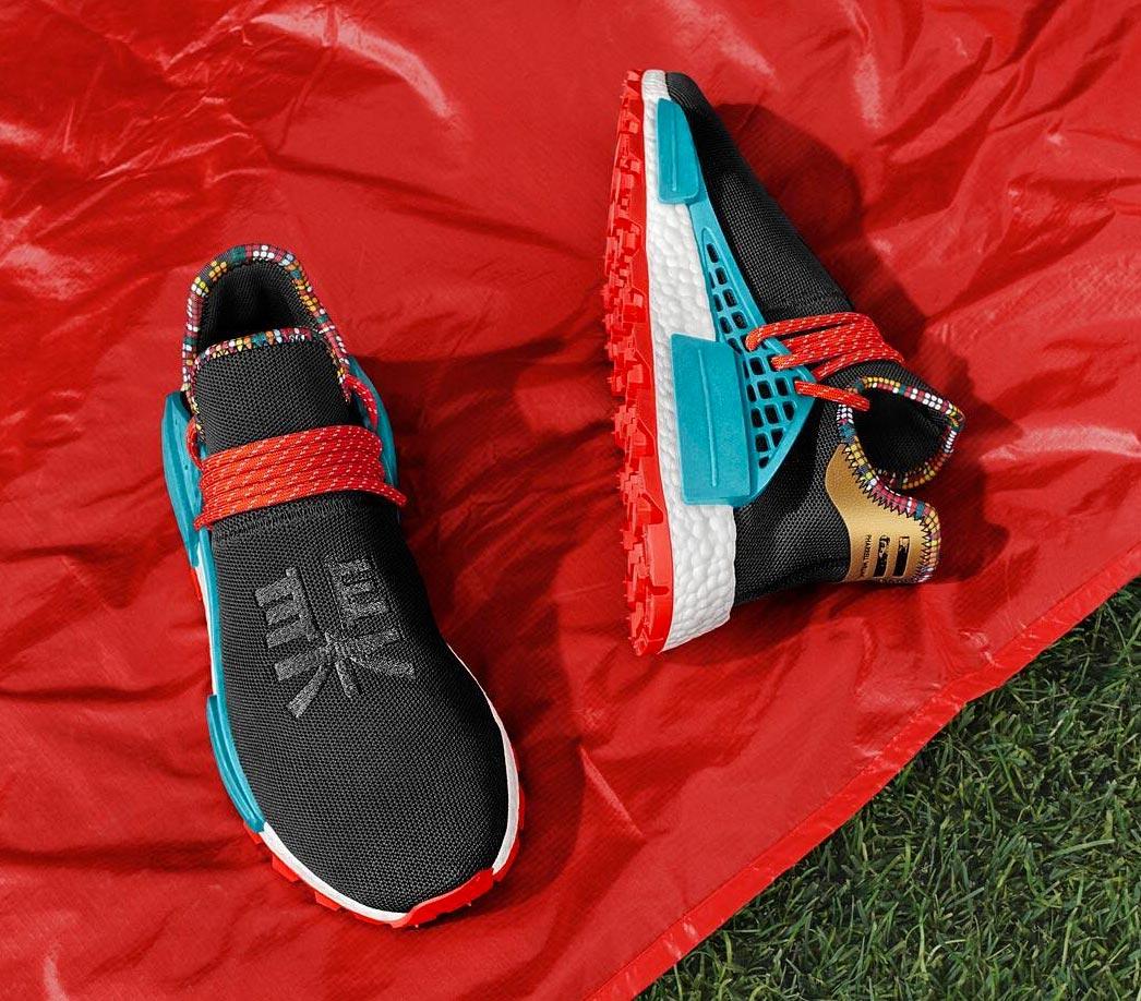 half off 7c2d7 51823 Pharrell x adidas NMD HU Black 'Inspiration' Pack