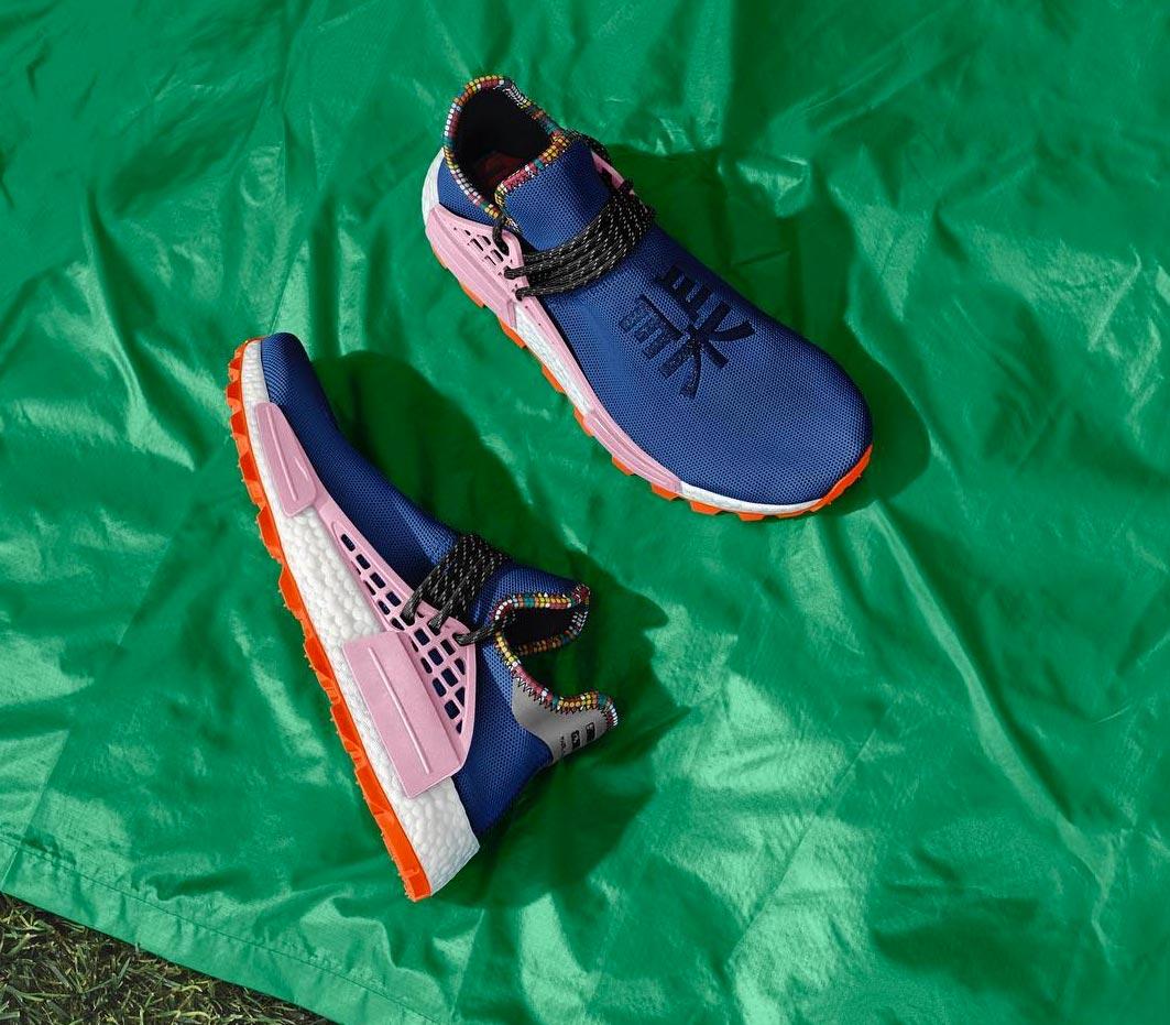 new style 316f9 924c1 Pharrell x adidas NMD HU Powder Blue 'Inspiration' Pack