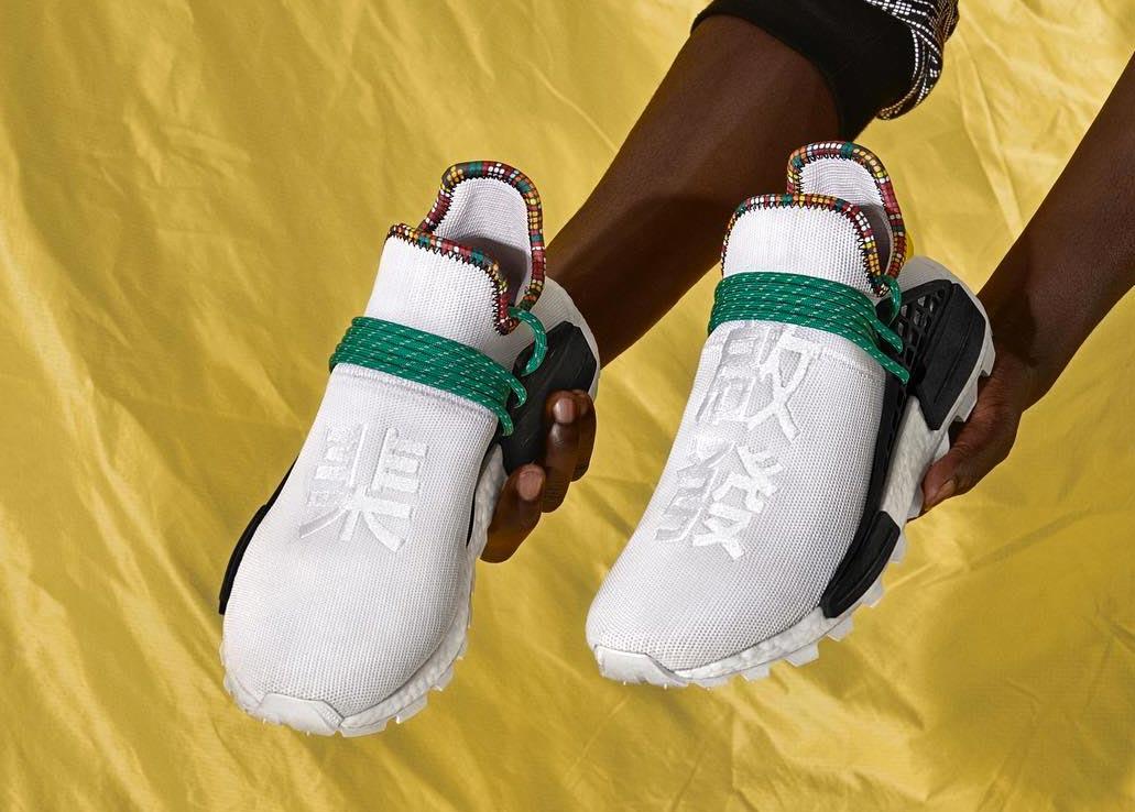 designer fashion bbe01 db15e Pharrell x adidas NMD HU White 'Inspiration' Pack