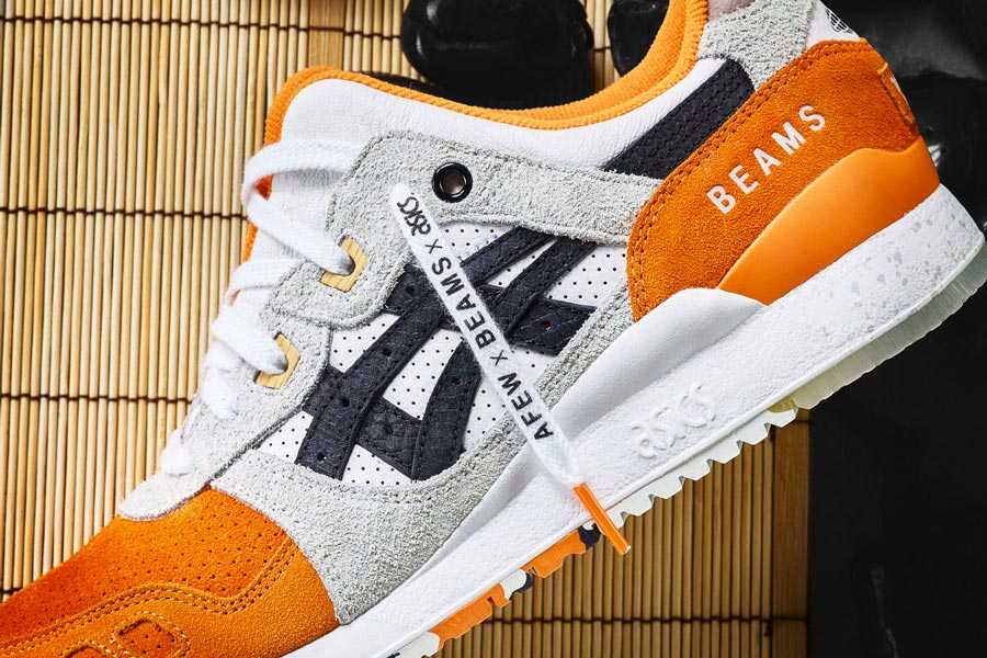asics blanche et orange