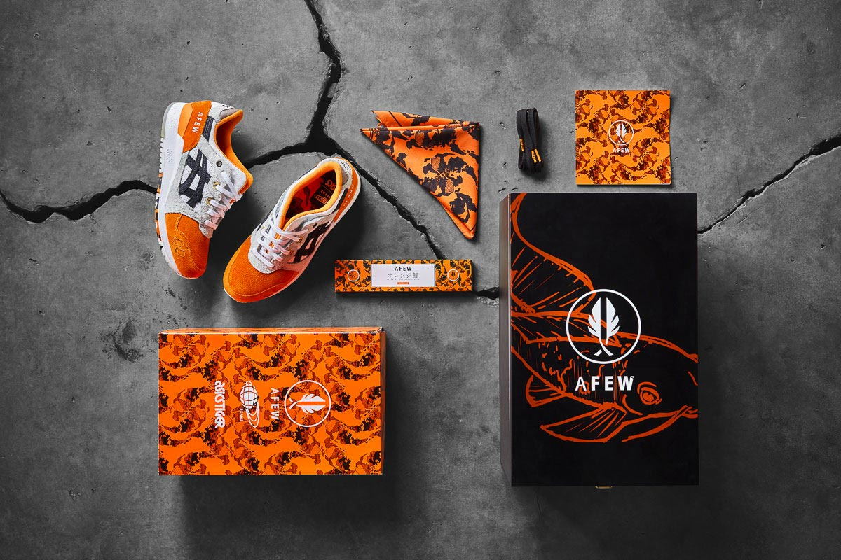 sports shoes c2920 f3eb5 Afew x Beams x Asics Gel-Lyte III Orange Koi
