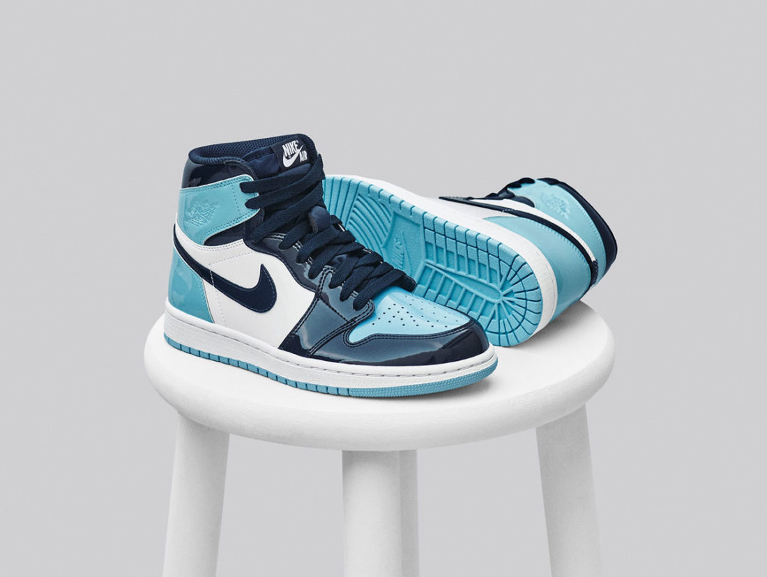 nike air jordan 1 retro bleu