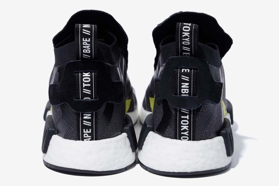 BAPE x NEIGHBORHOOD x adidas NMD STLT Black | EE9702 | The